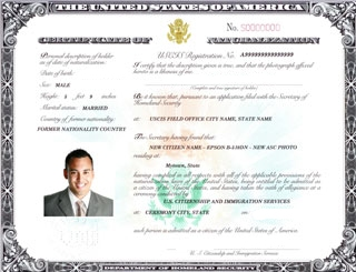 Certificate of Naturalization Apostille