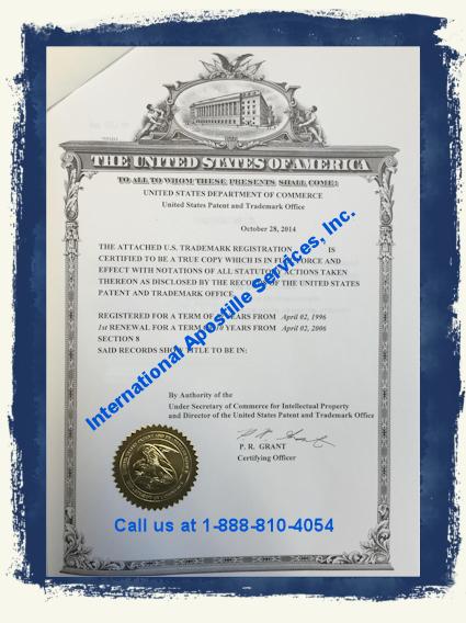 Patent Apostille