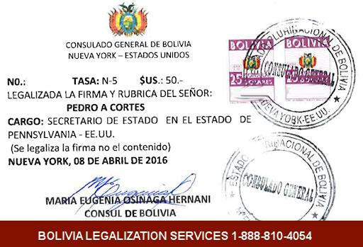 Bolivia Legalization