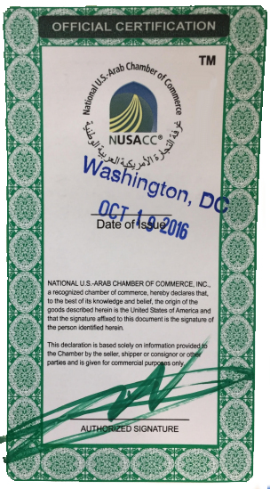 National US Arab Chamber of Commerce NUSACC